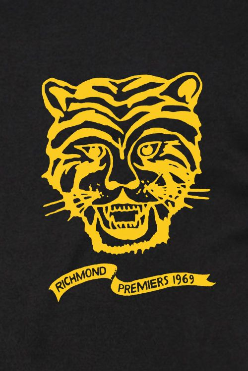 69 Premiership Black Tshirt by Talking Tigers